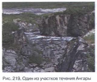 Один из участков течения Ангары