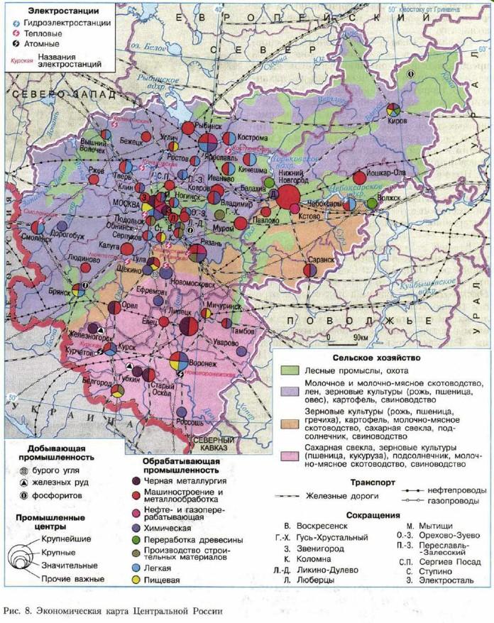 Экономическая карга Центральной России