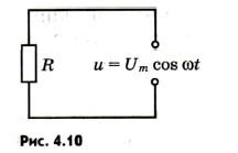 Сила тока в цепи с резистором