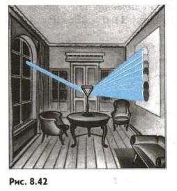 Стилизованное изображение опыта Ньютона